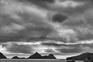 RF - Saddle Island and Wilson Harbour, South Georgia. January 2015. (This image may be licensed either as rights managed or royalty free.)  -  David Tipling