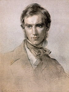 Illustration of Joseph Dalton Hooker (1817- 1912)  botanist, by George Richmond, reproduced in Hooker's ' Life and Letters'. Hooker was a good friend of Darwin and the director of Kew Gardens.  -  Paul  D Stewart