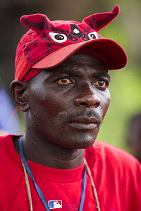Locally born Mr Bokika is the leader of M'boumontour NGO which supports different kind of conservation project within the community with the aim of protecting local Bonobo populations (Pan paniscus) D...  -  Cyril Ruoso
