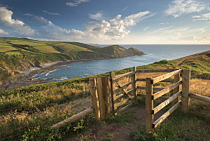 Kissing Gate on South West Coast Path near Crackington Haven, Cornwall, England, UK. August 2013.  -  Adam Burton