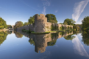 Bishop's Palace and moat in the city of Wells, Somerset, England, UK. September 2013. - Adam Burton