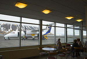 View of plane from Isafjordur Airport, Westfjords, Iceland. April 2016. - Terry  Whittaker