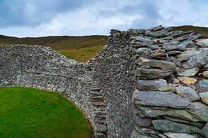 Staigue Fort, Castlecove, Ring of Kerry Trail, Iveragh Peninsula, County Kerry, Ireland, Europe. September 2015. - Juan  Carlos Munoz