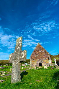 Kilmalkedar Monastery and graveyard, Dingle Peninsula, County Kerry, Ireland, Europe. September 2015. - Juan  Carlos Munoz