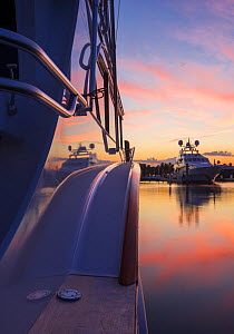 Close up of the yacht 'Miss America', 78'  Fort Lauderdale, Florida, USA, May 2013.  -  Billy  Black