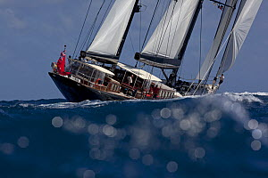 Marie, 180-foot Hoek-designed ketch in the Superyacht Challenge in  Wisconsin, USA, January 2011.  -  Billy  Black