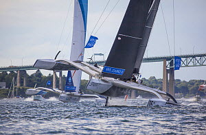Krys Ocean Race MOD 70's start in Newport, Rhode Island, USA. July 2012.  -  Billy  Black