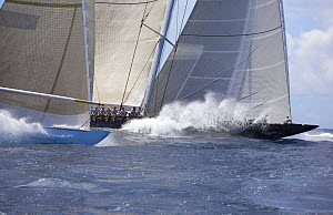 Hanuman yachts racing at the St. Barth's Bucket, March 2012.  -  Billy  Black