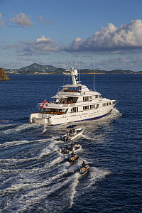 Teleost, 161' Feadship and RIB running in St. Thomas, US Virgin Islands November 2013.  -  Billy  Black