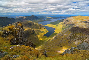 View from A' Mhaighdean overlooking Fionn Loch. Highlands, Highlands of Scotland, UK, January 2016. - SCOTLAND: The Big Picture