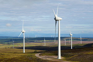 Wind turbines at Berry Burn on Altyre Estate, Moray Scotland, UK. July 2016. - SCOTLAND: The Big Picture