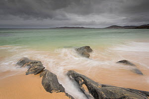 Rocks on Seilebost beach with storm approaching, North Harris, Outer Hebrides, Scotland, UK, April 2013. - SCOTLAND: The Big Picture