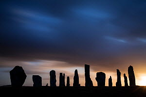 Callanish Stones silhouetted at dawn, Isle of Lewis, Outer Hebrides, Scotland, UK, April 2014. - SCOTLAND: The Big Picture