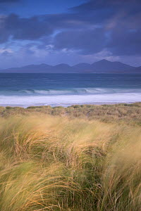 View across Sound of Taransay to North Harris hills, West Harris, Outer Hebrides, Scotland, UK, September 2014.  -  SCOTLAND: The Big Picture