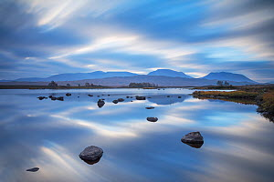Reflections in Loch Baa at dawn, Rannoch Moor, Glencoe, Lochaber, Scotland, UK, October 2014. - SCOTLAND: The Big Picture