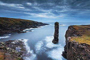 Yesnaby sea stack in stormy light, Orkney, Scotland, October 2014. - SCOTLAND: The Big Picture
