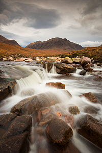Waterfall in front of Beinn Dearg, Torridon Hills, Wester Ross, Scotland, UK, November 2014. - SCOTLAND: The Big Picture