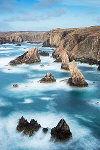 Sea stacks off Mangurstadh / Mangersta Beach, Isle of Lewis, Outer Hebrides, Scotland, UK, March 2015. - SCOTLAND: The Big Picture