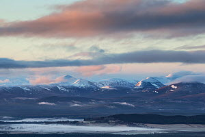 View south from Creag an Righ towards Cairngorm mountains, Cairngorms National Park, Scotland, UK, March 2016. - SCOTLAND: The Big Picture