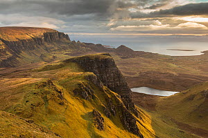 View to The Quiraing from the Trotternish Ridge at dawn, Isle of Skye, Inner Hebrides, Scotland, UK, April 2016. - SCOTLAND: The Big Picture