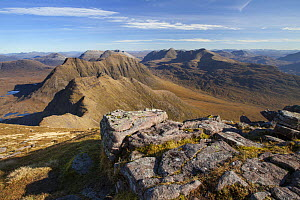 View from Sgurr Mor to Horns of Alligin, Beinn Dearg, Liathach and Beinn Eighe, Torridon, Wester Ross, Scotland, UK, October 2015. - SCOTLAND: The Big Picture