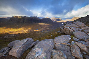 Beinn Dearg viewed from the north flank of Liathach, Torridon, Wester Ross, Scotland, UK, October 2015. - SCOTLAND: The Big Picture