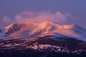 Lochnagar in snow at dawn, Deeside, Cairngorms National Park, Scotland, UK, March 2015. - SCOTLAND: The Big Picture