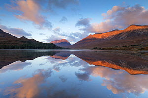 Liathach and Beinn Eighe reflected in Loch Clair at dawn, Torridon, Scotland, UK, November 2014. - SCOTLAND: The Big Picture