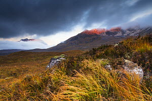 Beinn Eighe ridge and Liathach in morning light, Torridon, Highlands, Scotland, UK, October 2013. - SCOTLAND: The Big Picture