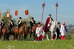 The Blutritt (the right of blood) is the largest European procession with about 3,000 riders, Weingarten, Baden-Wurtemberg, Germany. May 2016. - Kristel  Richard