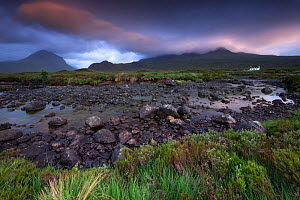 Evening light before storm with a view of Marsco, mountainous of Cuillins, Isle of Skye, Scotland, UK. June 2016  -  Benjamin  Barthelemy