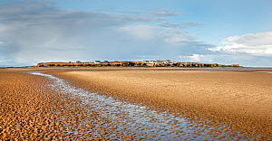 Hilbre Island viewed from the from the east side at low tide - situated in the mouth of River Dee Estuary, Wirral, UK, February 2016. - Alan  Williams