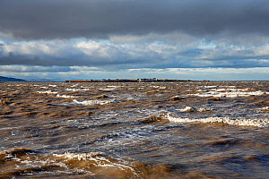 Hilbre Island viewed at high tide from  Hilbre Point at the mouth of the Dee Estuary, Wirral, UK. November. - Alan  Williams