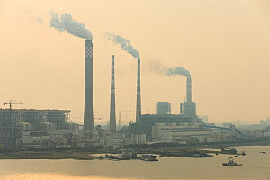 Coal fired power plant and pollution north of Shanghai. China, October 2013. - Gerrit  Vyn
