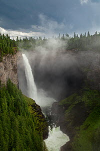 Helmcken Falls in Wells Gray Provincial Park, British Columbia, Canada, August - Connor Stefanison