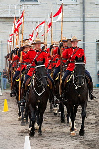 The Royal Canadian Mounted Police force parades, during the National American Police Equestrian Competition (NAPEC), at Kingston Penitentiary, Kingston, Ontario, Canada.September 2016.  -  Kristel  Richard