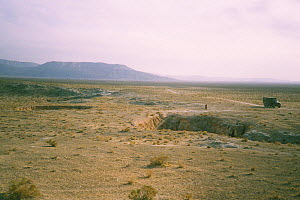 Landscape of Turkmenistan, with cave of the Blind loach (Nemacheilus starostini), Turkmenistan, 1990. Small repro only. - Willem  Kolvoort