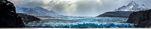 Panoramic view of the Grey Glacier in Torres Del Paine National Park, Southern Patagonia, Chile.  Stitch Panorama.  -  Christophe Courteau