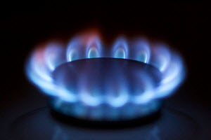 Flame of gas cooker in kitchen - Christophe Courteau