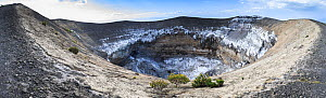 Panoramic view across the crater of Ol Doinyo Lengai, known locally as The Mountain of God, Rift Valley, Tanzania.  It is still an active volcano. - Christophe Courteau