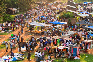 Looking down on typical market day in Uganda 2010  -  Christophe Courteau
