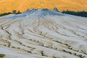 Mud formations at the 'mud volcanoes' where gases emerge from the deposits below. Buzau county, Sub-Carpathians, Romania. - Erlend Haarberg