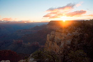 Sunrise over Grand Canyon, Arizona, USA, November 2016.  -  Barrie Britton