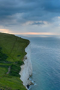 Receding storm over White Cliffs of Dover. Kent, UK. July  -  Terry  Whittaker