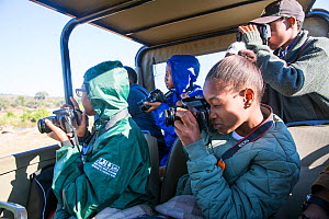 Pupils during residential photography course organised by Wild Shots Outreach. Kruger National Park, South Africa, June 2017.  -  Wild Shots Outreach