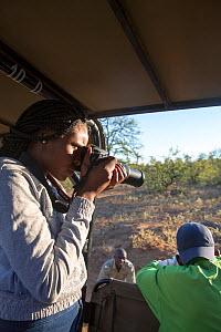 Pupil Tharollo Shaai  during residential photography course organised by Wild Shots Outreach. Kruger National Park, South Africa, June 2017.  -  Wild Shots Outreach