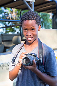 Pupil Shawn Molea during residential photography course organised by Wild Shots Outreach. Kruger National Park, South Africa, June 2017.  -  Wild Shots Outreach