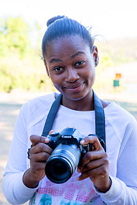 Pupil Prisence Mashaba during residential photography course organised by Wild Shots Outreach. Kruger National Park, South Africa, June 2017.  -  Wild Shots Outreach