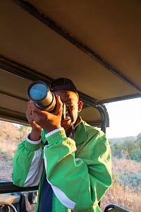 Pupil Coleman Rammallo during residential photography course organised by Wild Shots Outreach. Kruger National Park, South Africa, June 2017.  -  Wild Shots Outreach