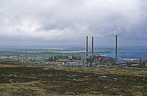 Norilsk, a large industrial town above the Arctic Circle,  produces Nickle, Palladium, Copper, Cobalt etc and is the largest stationary source of  air pollution  in Russia. Gases including sulfur diox...  -  Willem  Kolvoort
